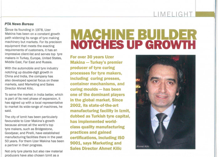 Machine Builder Notches Up Growth
