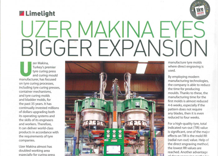 Uzer Makina Eyes Bigger Expansion