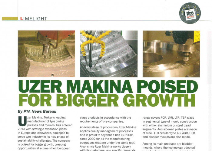 Uzer Makina Poised for Bigger Growth